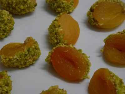 recette - abricot foie gras pistache
