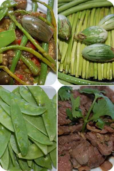 recette - boeuf mariné et légumes sautés à la thaïlandaise
