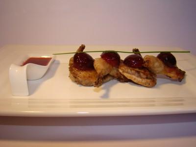 recette - caille aux cerises