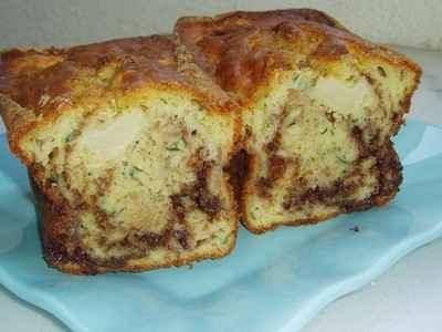 recette - cake sucré à la courgette