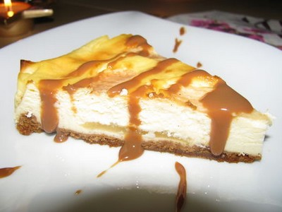 recette - cheese cake au chocolat blanc et poires