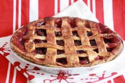 recette - cherry and blueberry lattice pie