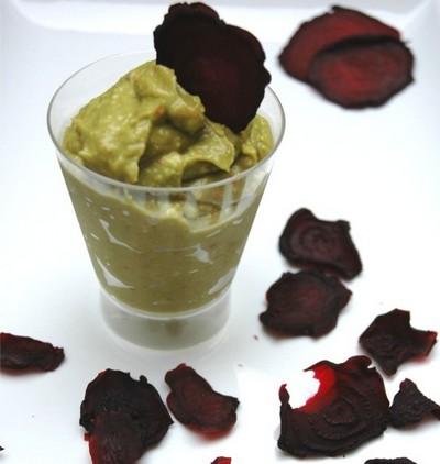 recette - chips de betterave et guacamole pimenté