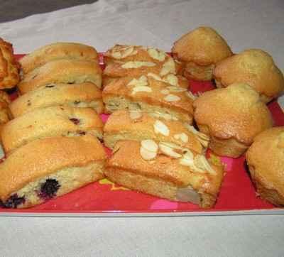 recette - farandole de cakes aux fruits et à l'huile d'olive