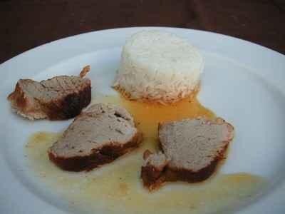 recette - filet mignon sauce caramel / agrumes