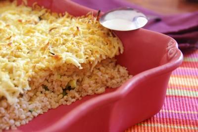recette - gratin de boulgour aux courgettes