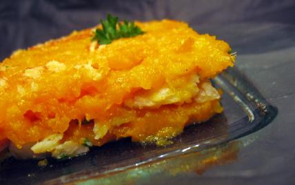 recette - gratin longévité de patates douces et perche du nil