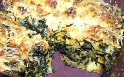 recette - lasagnes aux épinards et poulet