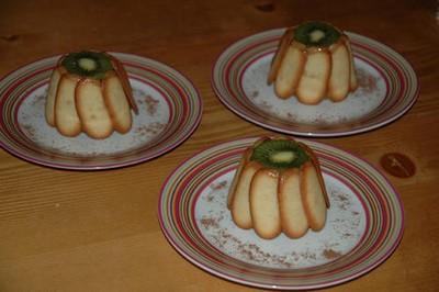 recette - mes petites charlottes aux fruits, kiwi, ananas, pommes et orange