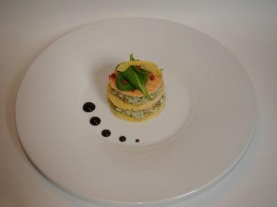 recette - mille et une feuille de saumon, parmesan et risotto à l'oseille