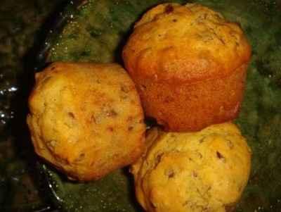 recette - muffins à la farine de maïs et aux graines de lin
