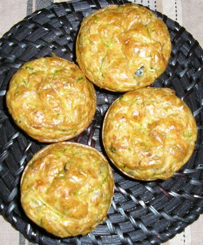 recette - muffins de courgettes aux olives