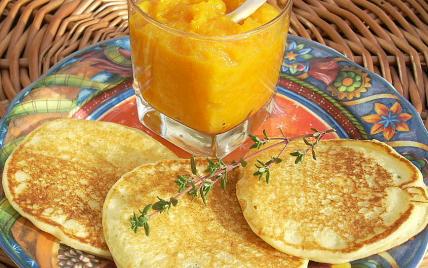 recette - pancakes aux pommes de terre et chutney de potiron
