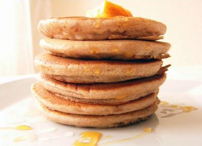 recette - pancakes épais à l'orange et à la châtaigne
