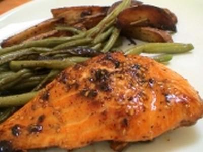 Recette pav de saumon au miel et s same facile et rapide - Comment cuisiner un pave de saumon ...