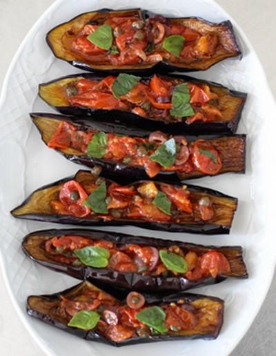 recette - petits bateaux d'aubergines