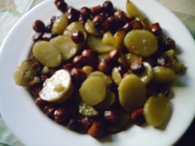 recette - pommes de terre au saucisse de strasbourg