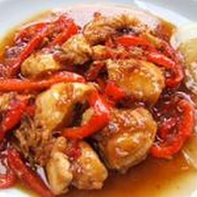 recette - poulet en croute de piments