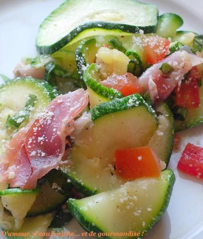 recette - salade de courgette aux saveurs italiennes