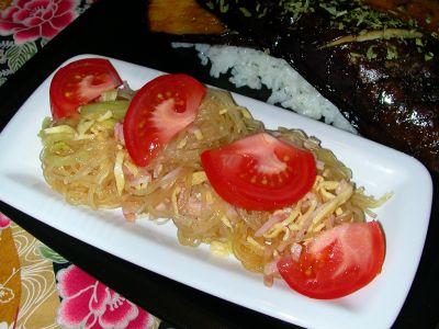 recette - salade de vermicelles de soja