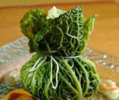recette - surprises de gambas en verdure