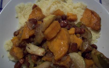 Recette tajine de courgettes et patates douces facile et - Idee recette patate douce ...