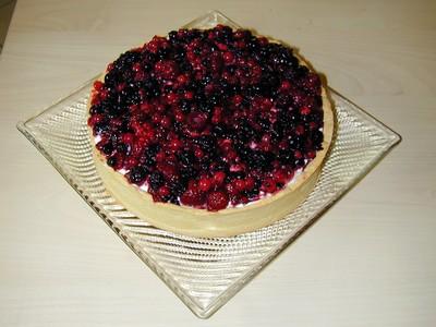recette - tarte aux fruits rouges avec crème mascarpone