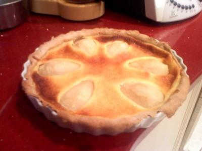 recette - tarte maison aux poires