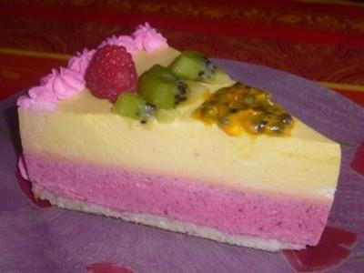 recette - bavarois framboises et fruits exotiques