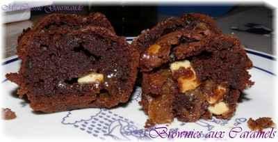 recette - brownies au caramel