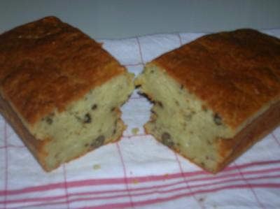 recette - cake roquefort noix