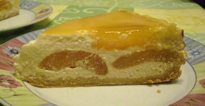 recette - cheese cake vanillé à l'abricot