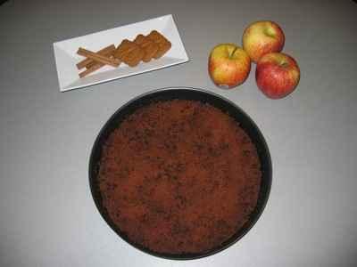 recette - crumble de pommes aux spéculoos