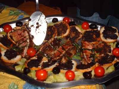 recette - duo de filets de rougets grillés à la tapenade