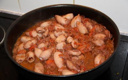 recette - encornets à la tomate