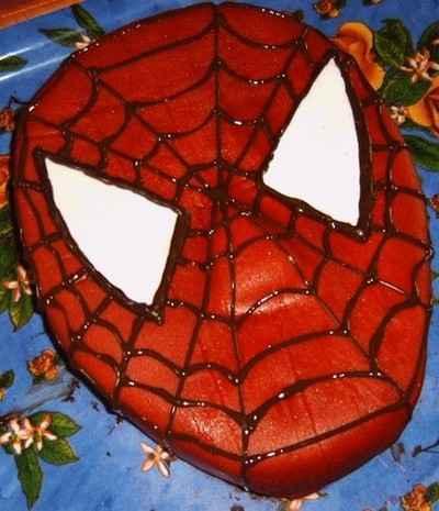 recette - g�teau anniversaire spiderman