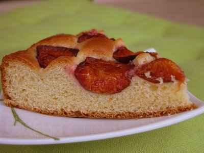 recette - gâteau brioché aux quetsches