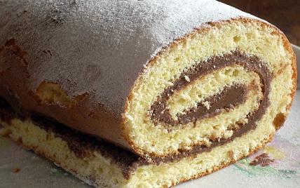 recette - gâteau roulé au nutella