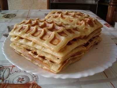 recette - gaufres au miel