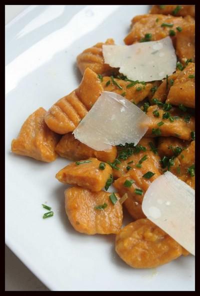 recette - gnocchis de potimarron aux copeaux de parmesan