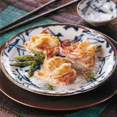 recette - jonque de daurade farcie à la crevette