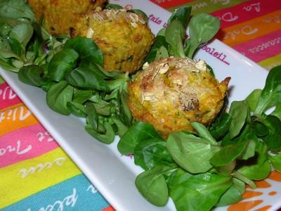 recette - muffins au lait de coco, carottes et épices