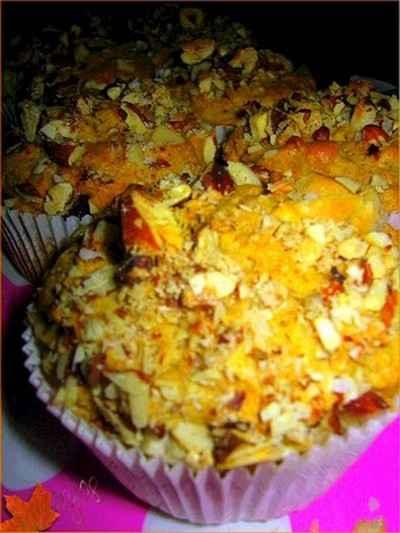 recette - muffins aux pommes, carottes et épices