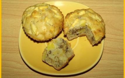 recette - muffins aux pommes et noix