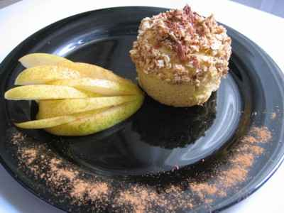 recette - muffins du verger sous croustillant d'avoine