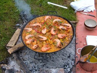 recette - paella de guipuzcoa au feu de bois