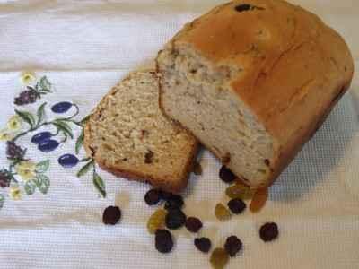 recette - pain au lait aux raisins 'complet'