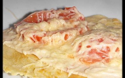 recette - pancakes au jambon de poulet