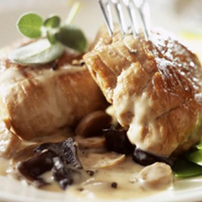 recette - paupiette de veau aux lamelles de courgettes