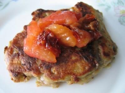 recette - petites crêpes d'aubergines et concassée de tomates